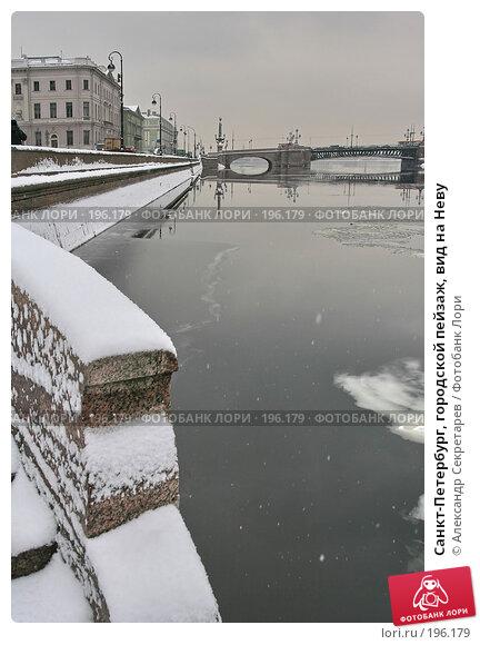 Санкт-Петербург, городской пейзаж, вид на Неву, фото № 196179, снято 4 февраля 2008 г. (c) Александр Секретарев / Фотобанк Лори
