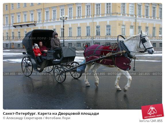 Санкт-Петербург. Карета на Дворцовой площади, фото № 241855, снято 24 мая 2017 г. (c) Александр Секретарев / Фотобанк Лори