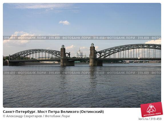 Санкт-Петербург. Мост Петра Великого (Охтинский), фото № 319459, снято 6 августа 2005 г. (c) Александр Секретарев / Фотобанк Лори