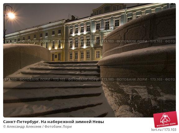 Санкт-Петербург. На набережной зимней Невы, эксклюзивное фото № 173103, снято 10 января 2008 г. (c) Александр Алексеев / Фотобанк Лори