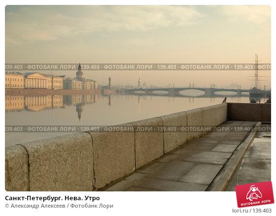 Санкт-Петербург. Нева. Утро, эксклюзивное фото № 139403, снято 23 марта 2007 г. (c) Александр Алексеев / Фотобанк Лори