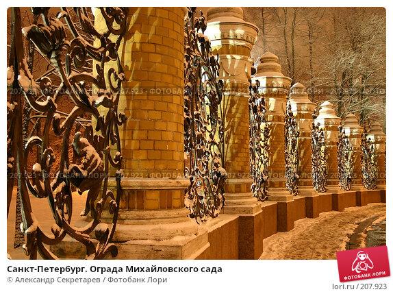 Купить «Санкт-Петербург. Ограда Михайловского сада», фото № 207923, снято 17 декабря 2005 г. (c) Александр Секретарев / Фотобанк Лори