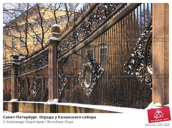 Купить «Санкт-Петербург. Ограда у Казанского собора», фото № 221323, снято 4 февраля 2005 г. (c) Александр Секретарев / Фотобанк Лори