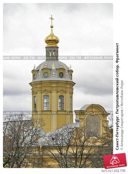 Санкт-Петербург. Петропавловский собор. Фрагмент, фото № 232735, снято 10 мая 2005 г. (c) Александр Секретарев / Фотобанк Лори