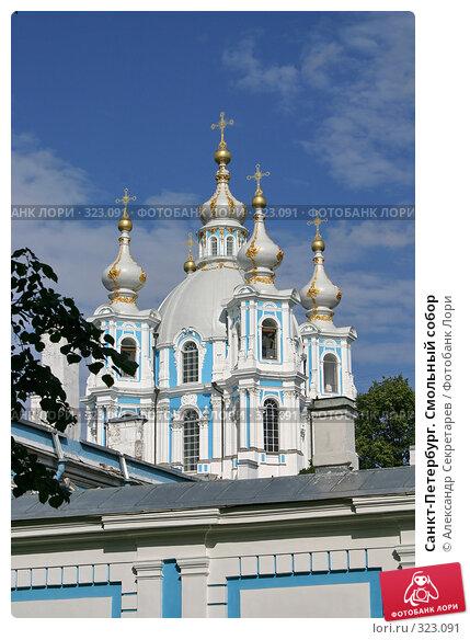 Купить «Санкт-Петербург. Смольный собор», фото № 323091, снято 6 августа 2005 г. (c) Александр Секретарев / Фотобанк Лори