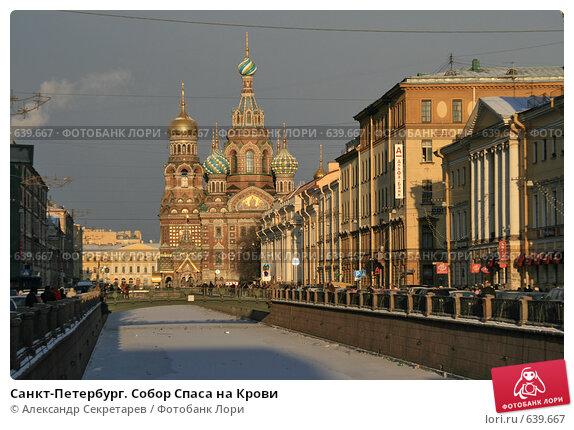 Купить «Санкт-Петербург. Собор Спаса на Крови», фото № 639667, снято 3 января 2009 г. (c) Александр Секретарев / Фотобанк Лори
