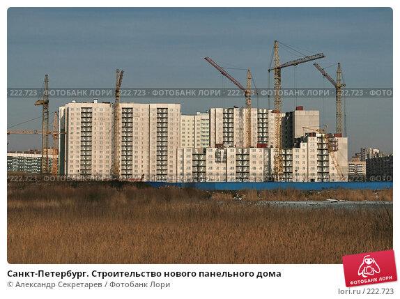 Санкт-Петербург. Строительство нового панельного дома, фото № 222723, снято 10 марта 2008 г. (c) Александр Секретарев / Фотобанк Лори