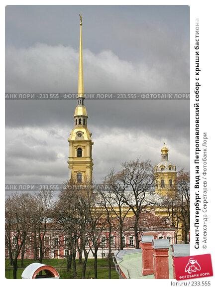 Санкт-Петербург. Вид на Петропавловский собор с крыши бастиона, фото № 233555, снято 10 мая 2005 г. (c) Александр Секретарев / Фотобанк Лори