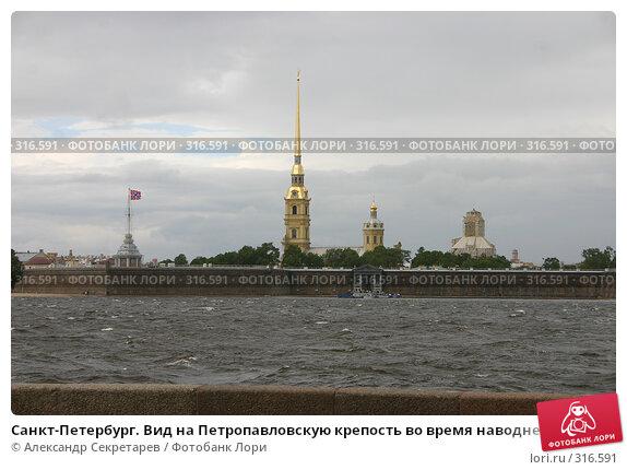 Санкт-Петербург. Вид на Петропавловскую крепость во время наводнения, фото № 316591, снято 9 июня 2008 г. (c) Александр Секретарев / Фотобанк Лори