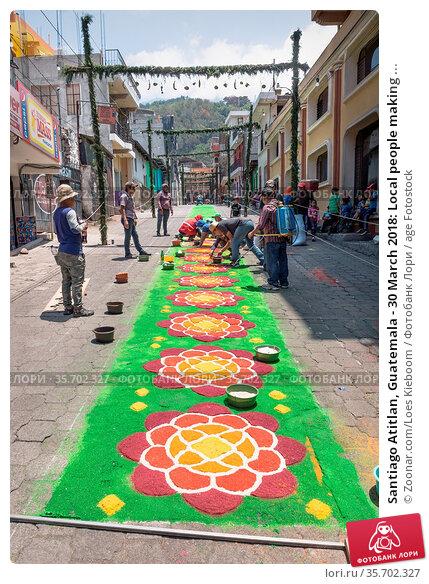 Santiago Atitlan, Guatemala - 30 March 2018: Local people making ... Стоковое фото, фотограф Zoonar.com/Loes Kieboom / age Fotostock / Фотобанк Лори