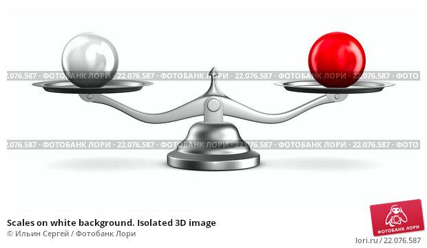 Купить «Scales on white background. Isolated 3D image», иллюстрация № 22076587 (c) Ильин Сергей / Фотобанк Лори