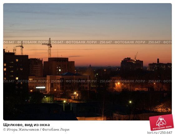 Щелково, вид из окна, фото № 250647, снято 26 июля 2017 г. (c) Игорь Жильчиков / Фотобанк Лори