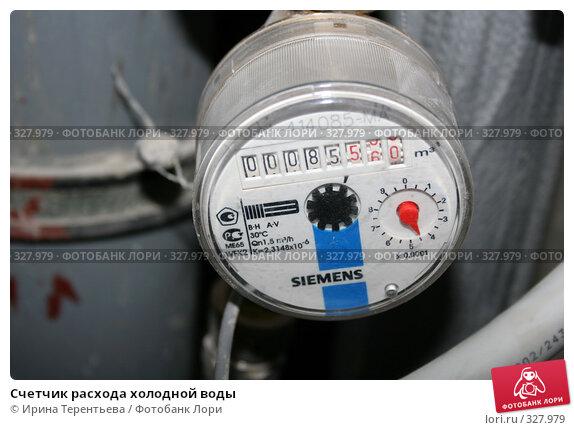 Счетчик расхода холодной воды, эксклюзивное фото № 327979, снято 18 июня 2008 г. (c) Ирина Терентьева / Фотобанк Лори