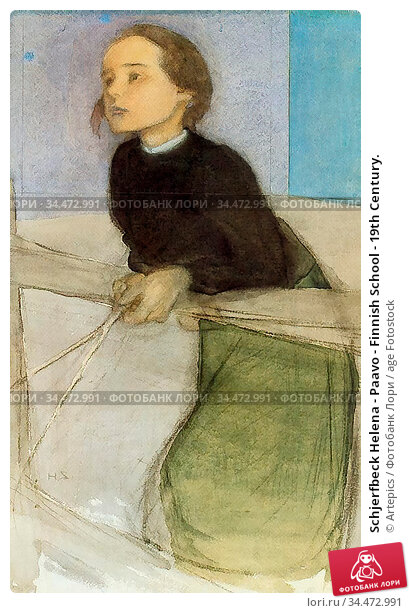 Schjerfbeck Helena - Paavo - Finnish School - 19th Century. Редакционное фото, фотограф Artepics / age Fotostock / Фотобанк Лори