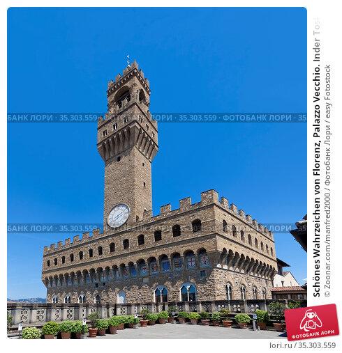 Schönes Wahrzeichen von Florenz, Palazzo Vecchio. Inder Toskana, Italien... Стоковое фото, фотограф Zoonar.com/manfred2000 / easy Fotostock / Фотобанк Лори