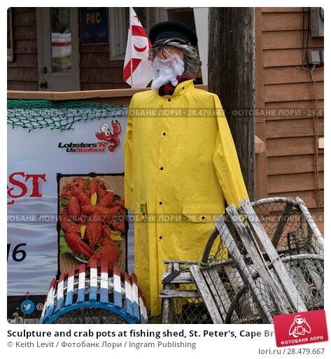 Купить «Sculpture and crab pots at fishing shed, St. Peter's, Cape Breton Island, Nova Scotia, Canada», фото № 28479667, снято 14 июня 2016 г. (c) Ingram Publishing / Фотобанк Лори