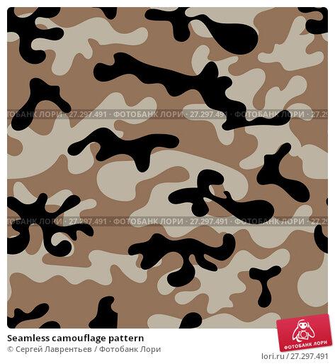 Купить «Seamless camouflage pattern», иллюстрация № 27297491 (c) Сергей Лаврентьев / Фотобанк Лори