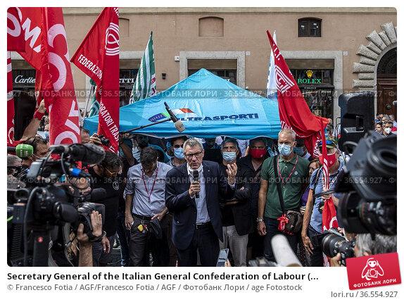 Secretary General of the Italian General Confederation of Labour (... Редакционное фото, фотограф Francesco Fotia / AGF/Francesco Fotia / AGF / age Fotostock / Фотобанк Лори