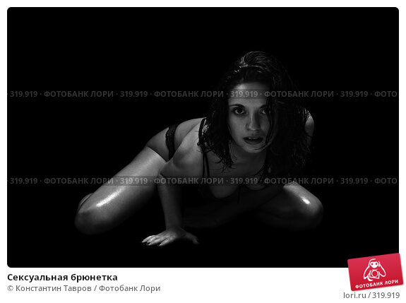 Сексуальная брюнетка, фото № 319919, снято 11 января 2008 г. (c) Константин Тавров / Фотобанк Лори