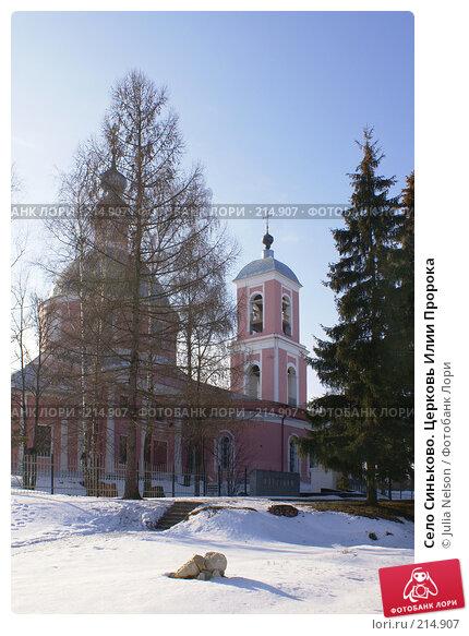 Купить «Село Синьково. Церковь Илии Пророка», фото № 214907, снято 12 февраля 2008 г. (c) Julia Nelson / Фотобанк Лори