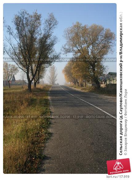 Сельская дорога (д.Саулово/Камешковский р-н/Владимирская обл.), фото № 17919, снято 2 октября 2005 г. (c) Захаров Владимир / Фотобанк Лори
