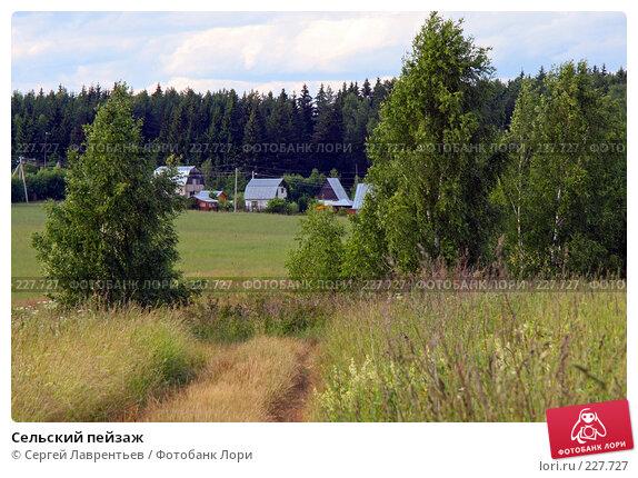 Сельский пейзаж, фото № 227727, снято 22 июня 2007 г. (c) Сергей Лаврентьев / Фотобанк Лори