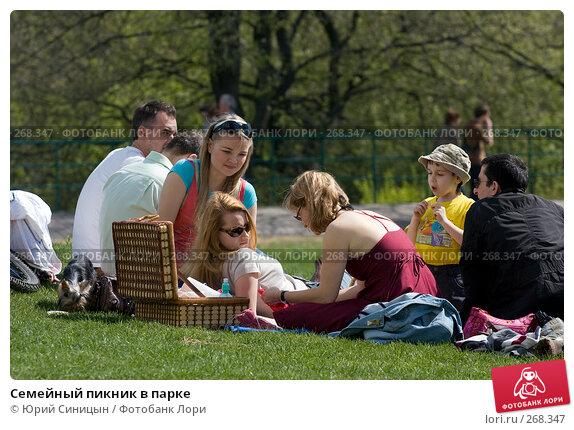 Семейный пикник в парке, фото № 268347, снято 27 апреля 2008 г. (c) Юрий Синицын / Фотобанк Лори