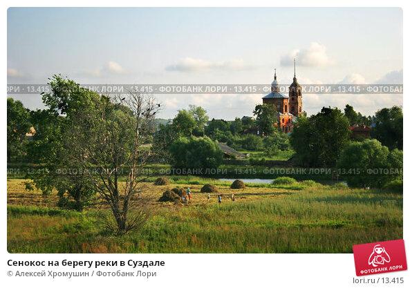 Сенокос на берегу реки в Суздале, фото № 13415, снято 16 июля 2006 г. (c) Алексей Хромушин / Фотобанк Лори