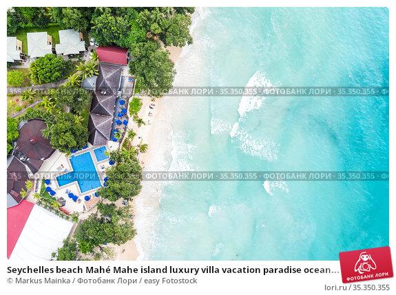 Seychelles beach Mahé Mahe island luxury villa vacation paradise ocean... Стоковое фото, фотограф Markus Mainka / easy Fotostock / Фотобанк Лори