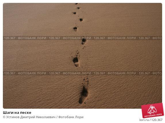 Шаги на песке, фото № 120367, снято 20 августа 2007 г. (c) Устинов Дмитрий Николаевич / Фотобанк Лори