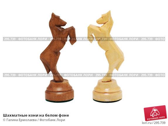 Купить «Шахматные кони на белом фоне», фото № 295739, снято 18 мая 2008 г. (c) Галина Ермолаева / Фотобанк Лори