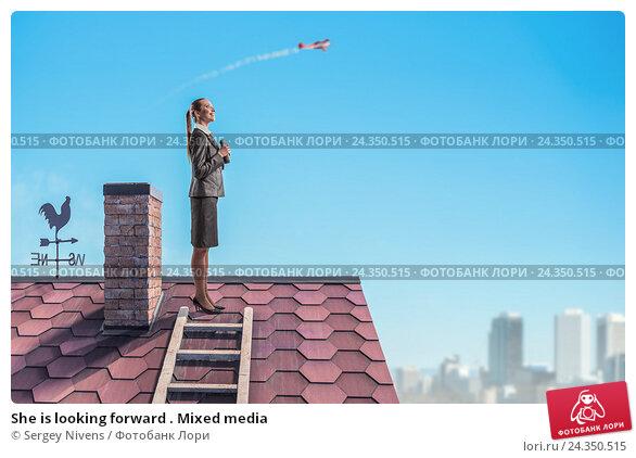 Купить «She is looking forward . Mixed media», фото № 24350515, снято 22 апреля 2019 г. (c) Sergey Nivens / Фотобанк Лори