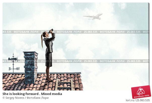 Купить «She is looking forward . Mixed media», фото № 25083535, снято 27 марта 2019 г. (c) Sergey Nivens / Фотобанк Лори