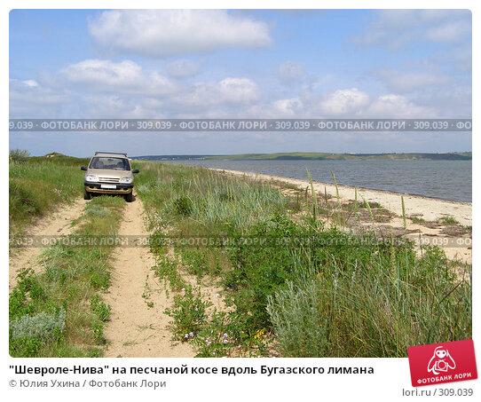 Шевроле-Нива на песчаной косе вдоль Бугазского лимана, фото № 309039, снято 25 мая 2008 г. (c) Юлия Ухина / Фотобанк Лори