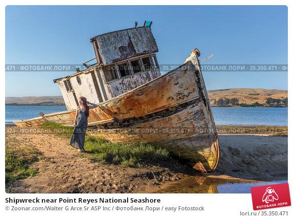Shipwreck near Point Reyes National Seashore. Стоковое фото, фотограф Zoonar.com/Walter G Arce Sr ASP Inc / easy Fotostock / Фотобанк Лори