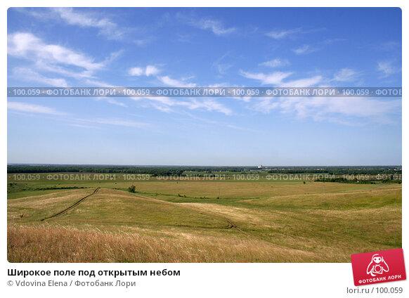 Широкое поле под открытым небом, фото № 100059, снято 17 июня 2007 г. (c) Vdovina Elena / Фотобанк Лори