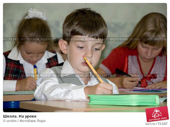 Школа. На уроке, фото № 73547, снято 19 августа 2007 г. (c) urchin / Фотобанк Лори