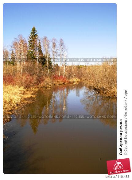 Купить «Сибирская речка», фото № 110435, снято 21 апреля 2007 г. (c) Сергей Косырьков / Фотобанк Лори
