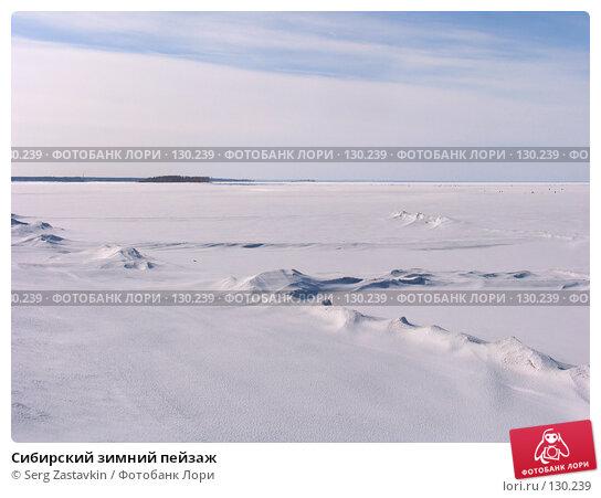 Сибирский зимний пейзаж, фото № 130239, снято 8 апреля 2006 г. (c) Serg Zastavkin / Фотобанк Лори