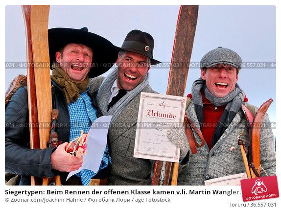 Siegertypen: Beim Rennen der offenen Klasse kamen v.li. Martin Wangler... Стоковое фото, фотограф Zoonar.com/Joachim Hahne / age Fotostock / Фотобанк Лори