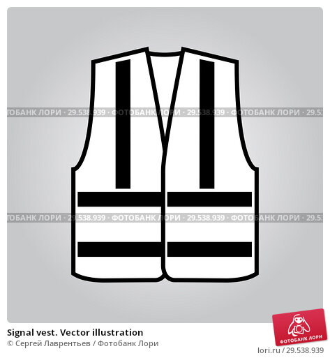 Купить «Signal vest. Vector illustration», иллюстрация № 29538939 (c) Сергей Лаврентьев / Фотобанк Лори