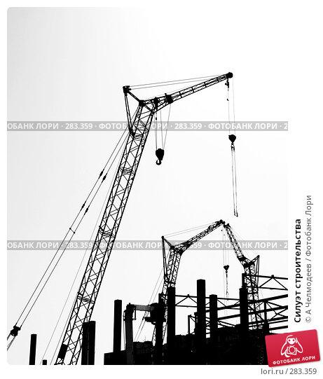Силуэт строительства, фото № 283359, снято 31 мая 2007 г. (c) A Челмодеев / Фотобанк Лори
