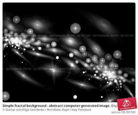 Simple fractal background - abstract computer-generated image. Digital... Стоковое фото, фотограф Zoonar.com/Olga Gavrilenko / easy Fotostock / Фотобанк Лори