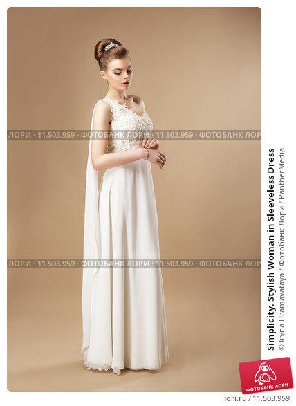 Купить «Simplicity. Stylish Woman in Sleeveless Dress», фото № 11503959, снято 18 мая 2019 г. (c) PantherMedia / Фотобанк Лори