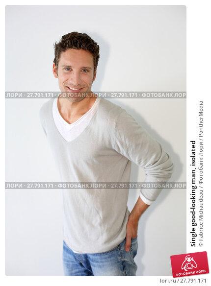 Купить «Single good-looking man, isolated», фото № 27791171, снято 16 октября 2018 г. (c) PantherMedia / Фотобанк Лори