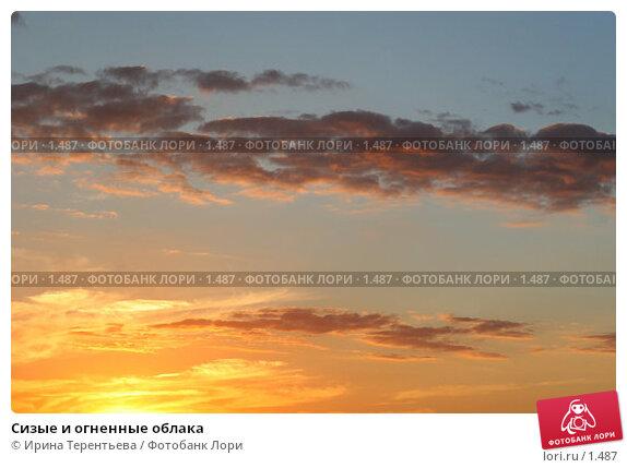 Купить «Сизые и огненные облака», эксклюзивное фото № 1487, снято 28 июля 2005 г. (c) Ирина Терентьева / Фотобанк Лори