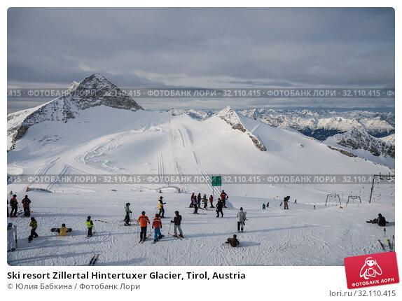 Купить «Ski resort Zillertal Hintertuxer Glacier, Tirol, Austria», фото № 32110415, снято 6 января 2011 г. (c) Юлия Бабкина / Фотобанк Лори