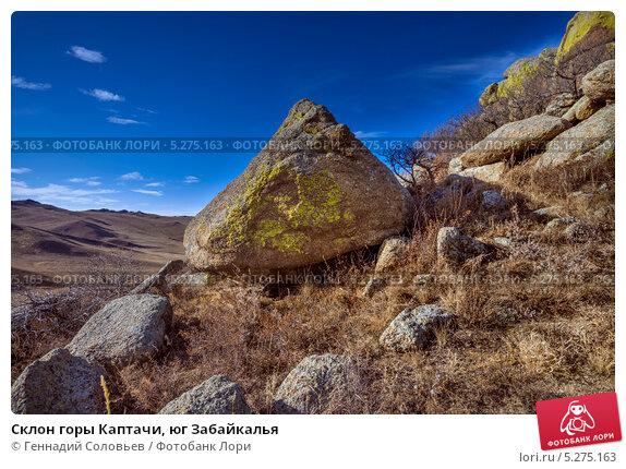 Склон горы Каптачи, юг Забайкалья, фото № 5275163, снято 2 ноября 2013 г. (c) Геннадий Соловьев / Фотобанк Лори