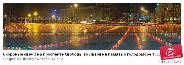 Скорбные свечи на проспекте Свободы во Львове в память о голодоморе 1933 года на Украине, фото № 197247, снято 20 января 2017 г. (c) Юрий Брыкайло / Фотобанк Лори