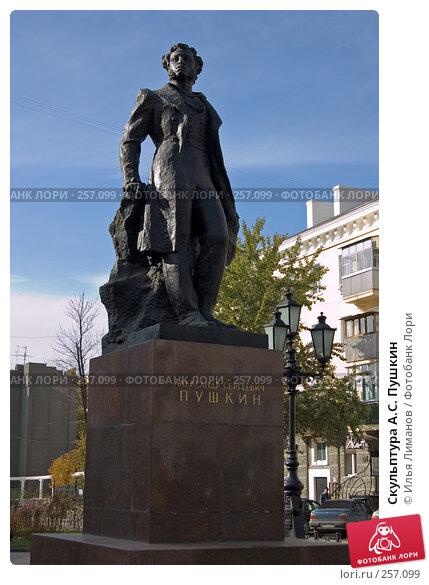 Купить «Скульптура А.С. Пушкин», фото № 257099, снято 4 ноября 2005 г. (c) Илья Лиманов / Фотобанк Лори